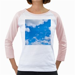 Sky Blue Clouds Nature Amazing Girly Raglans