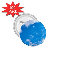 Sky Blue Clouds Nature Amazing 1.75  Buttons (100 pack)
