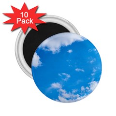 Sky Blue Clouds Nature Amazing 2 25  Magnets (10 Pack)