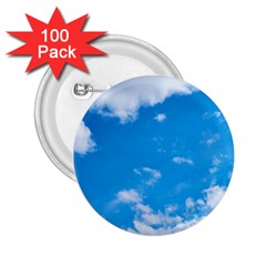 Sky Blue Clouds Nature Amazing 2 25  Buttons (100 Pack)