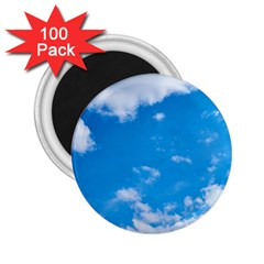 Sky Blue Clouds Nature Amazing 2 25  Magnets (100 Pack)