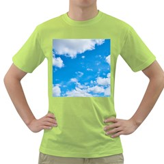 Sky Blue Clouds Nature Amazing Green T-Shirt