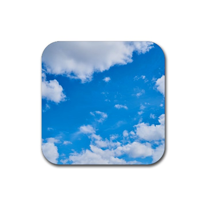 Sky Blue Clouds Nature Amazing Rubber Square Coaster (4 pack)