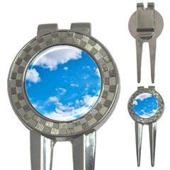 Sky Blue Clouds Nature Amazing 3 In 1 Golf Divots