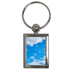 Sky Blue Clouds Nature Amazing Key Chains (rectangle)