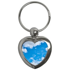 Sky Blue Clouds Nature Amazing Key Chains (heart)