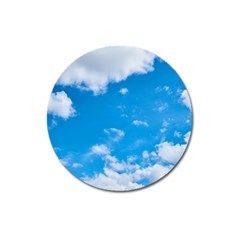 Sky Blue Clouds Nature Amazing Magnet 3  (round)