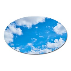 Sky Blue Clouds Nature Amazing Oval Magnet