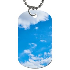 Sky Blue Clouds Nature Amazing Dog Tag (Two Sides)