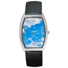 Sky Blue Clouds Nature Amazing Barrel Style Metal Watch