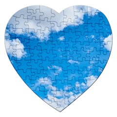 Sky Blue Clouds Nature Amazing Jigsaw Puzzle (heart)