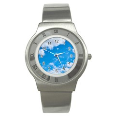 Sky Blue Clouds Nature Amazing Stainless Steel Watch