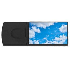 Sky Blue Clouds Nature Amazing USB Flash Drive Rectangular (4 GB)
