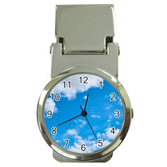 Sky Blue Clouds Nature Amazing Money Clip Watches