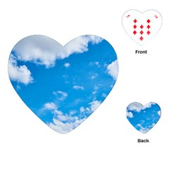 Sky Blue Clouds Nature Amazing Playing Cards (heart)
