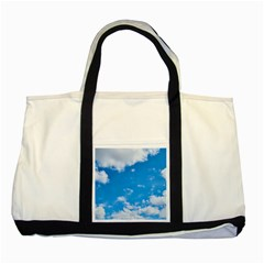 Sky Blue Clouds Nature Amazing Two Tone Tote Bag