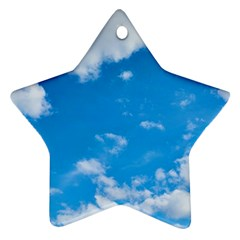Sky Blue Clouds Nature Amazing Star Ornament (two Sides)