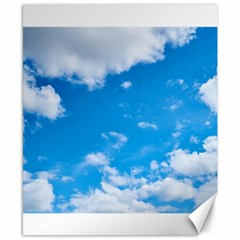 Sky Blue Clouds Nature Amazing Canvas 8  x 10