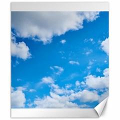 Sky Blue Clouds Nature Amazing Canvas 20  x 24