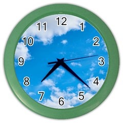 Sky Blue Clouds Nature Amazing Color Wall Clocks