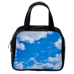 Sky Blue Clouds Nature Amazing Classic Handbags (One Side)
