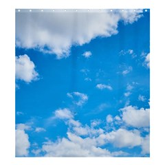 Sky Blue Clouds Nature Amazing Shower Curtain 66  x 72  (Large)