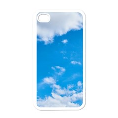 Sky Blue Clouds Nature Amazing Apple Iphone 4 Case (white)