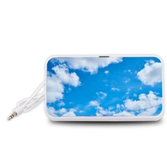 Sky Blue Clouds Nature Amazing Portable Speaker (White)
