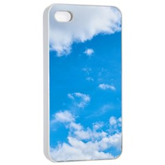 Sky Blue Clouds Nature Amazing Apple Iphone 4/4s Seamless Case (white)