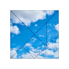 Sky Blue Clouds Nature Amazing Acrylic Tangram Puzzle (4  x 4 )