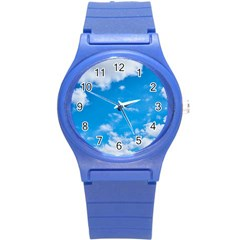Sky Blue Clouds Nature Amazing Round Plastic Sport Watch (s)