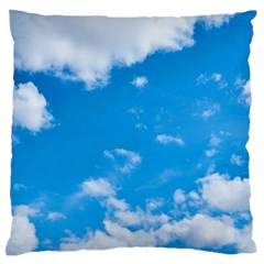 Sky Blue Clouds Nature Amazing Large Cushion Case (two Sides)