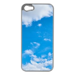 Sky Blue Clouds Nature Amazing Apple iPhone 5 Case (Silver)