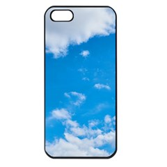 Sky Blue Clouds Nature Amazing Apple Iphone 5 Seamless Case (black)