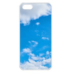 Sky Blue Clouds Nature Amazing Apple iPhone 5 Seamless Case (White)