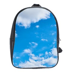 Sky Blue Clouds Nature Amazing School Bags (XL)