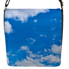 Sky Blue Clouds Nature Amazing Flap Messenger Bag (S)