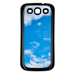 Sky Blue Clouds Nature Amazing Samsung Galaxy S3 Back Case (Black)