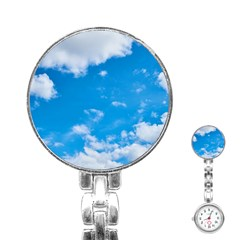 Sky Blue Clouds Nature Amazing Stainless Steel Nurses Watch