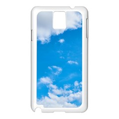 Sky Blue Clouds Nature Amazing Samsung Galaxy Note 3 N9005 Case (White)