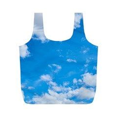Sky Blue Clouds Nature Amazing Full Print Recycle Bags (M)