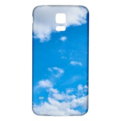Sky Blue Clouds Nature Amazing Samsung Galaxy S5 Back Case (White)