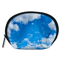 Sky Blue Clouds Nature Amazing Accessory Pouches (Medium)