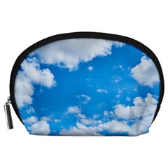 Sky Blue Clouds Nature Amazing Accessory Pouches (Large)