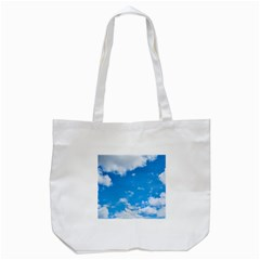 Sky Blue Clouds Nature Amazing Tote Bag (White)