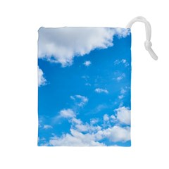 Sky Blue Clouds Nature Amazing Drawstring Pouches (Large)
