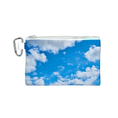 Sky Blue Clouds Nature Amazing Canvas Cosmetic Bag (S)
