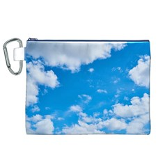 Sky Blue Clouds Nature Amazing Canvas Cosmetic Bag (XL)