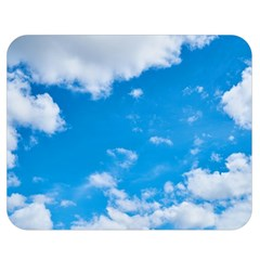 Sky Blue Clouds Nature Amazing Double Sided Flano Blanket (Medium)
