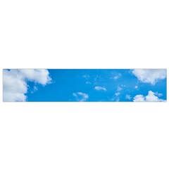 Sky Blue Clouds Nature Amazing Flano Scarf (small)